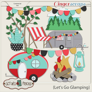 Let's Go Glamping CU Templates Pack 2 by Scraps N Pieces