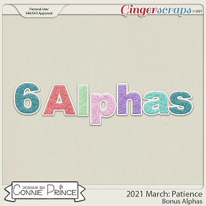 2021 March: Patience Bonus Alphas by North Meets South Studios