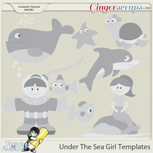 Doodles By Americo: Under The Sea Girl Templates