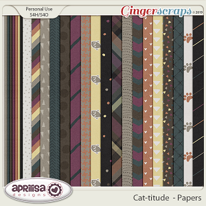 Cat-titude - Papers by Aprilisa Designs
