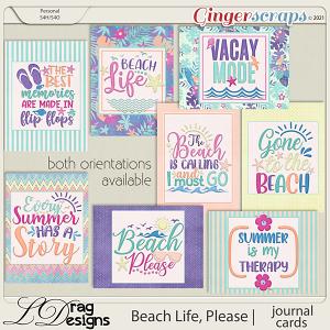 Beach Life, Please: Journal Cards by LDragDesigns