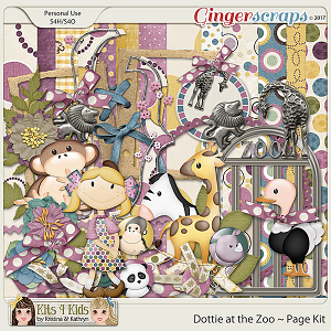Dottie Spots at the Zoo Page Kit by K4K