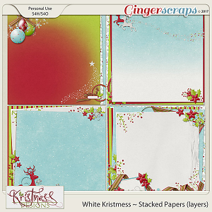 White Kristmess Stacked Papers (layers)