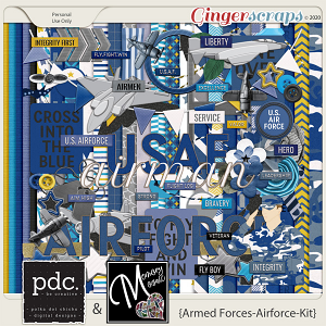 Armed Forces: Airforce (Kit) by Polka Dot Chicks & Memory Mosaic