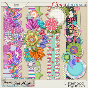 Sisterhood Page Borders from Designs by Lisa Minor