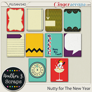 Nutty for The New Year JOURNAL CARDS by Heather Z Scraps