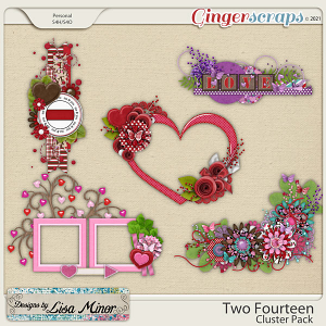 Two Fourteen Cluster Pack from Designs by Lisa Minor