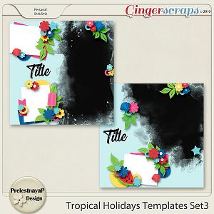 Tropical Holidays Templates Set3