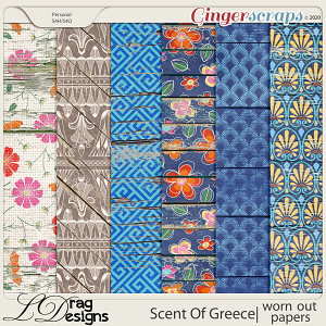 Scent Of Greece: Worn Out Papers by LDragDesigns