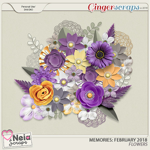 Memories: February 2018 - Flowers- by Neia Scraps