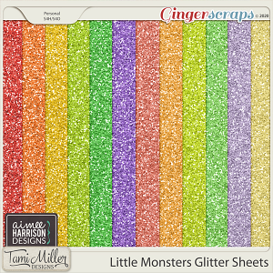 Little Monsters Glitter Sheets by Aimee Harrison and Tami Miller