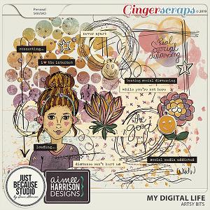 My Digital Life Artsy Bits by JB Studio and Aimee Harrison Designs
