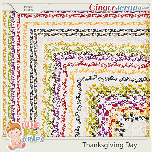 Thanksgiving Day-Page Borders