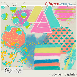 Lucy Paint Splats by Chere Kaye Designs