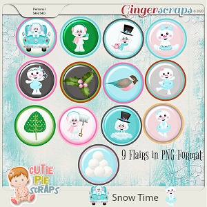 Snow Time Flairs Pack