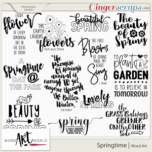 Springtime Word Art
