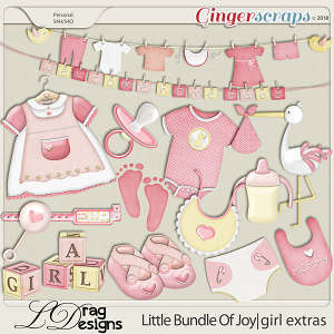 Little Bundle Of Joy: Girl Extras by LDragDesigns