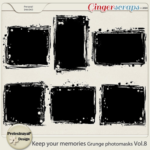 Keep your memories Grunge Photomasks Vol.8