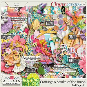 Crafting_A Stroke of the Brush Page Kit by Alexis Design Studio and Key Lime Digi Design