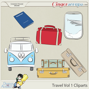 Doodles By Americo: Travel Vol 1 Cliparts