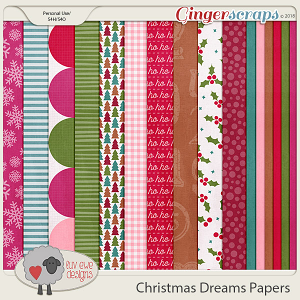 Christmas Dreams Papers by Luv Ewe Designs
