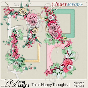 Think Happy Thoughts: Cluster Frames by LDragDesigns