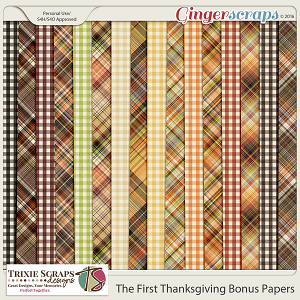 The First Thanksgiving Bonus Papers by Trixie Scraps Designs