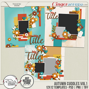 Autumn Cuddles - Templates VOL 1 - by Neia Scraps and JB Studio