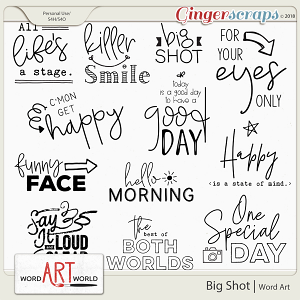 Big Shot Word Art Pack