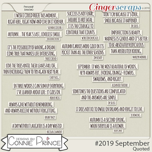 #2019 September - Quoted Pack by Connie Prince