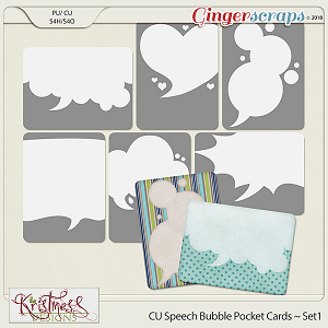 CU Speech Bubble Pocket Card Templates Set1