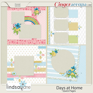 Days at Home Quick Pages by Lindsay Jane