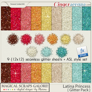 Latina Princess (glitter pack)