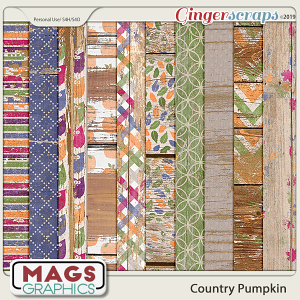 Country Pumpkin WOOD PAPERS by MagsGraphics
