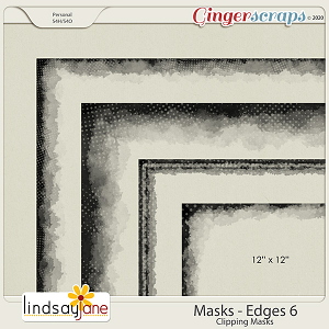 Masks Edges 6 by Lindsay Jane
