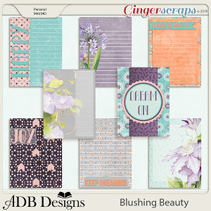 Blushing Beauty Journal Cards