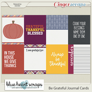 Be Grateful Journal Card Pack