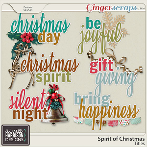 Spirit of Christmas Titles by Aimee Harrison