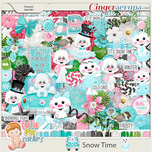 Snow Time Page Kit