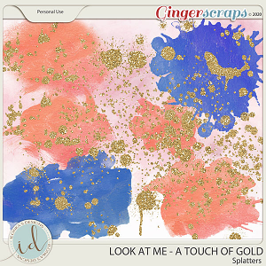 Look at Me A Touch Of Gold Splatters by Ilonka's Designs