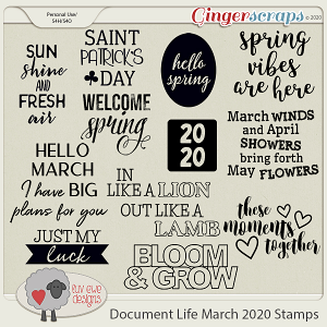 Document Life March 2020 Stamps by Luv Ewe Designs