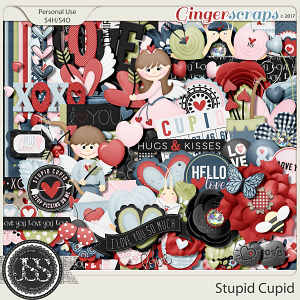 Stupid Cupid Digital Scrapbook Kit