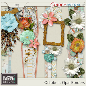 October's Opal Borders by Aimee Harrison