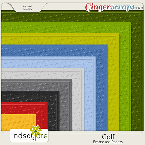 Golf Embossed Papers by Lindsay Jane