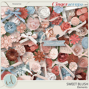 Sweet Blush Elements by Ilonka's Designs