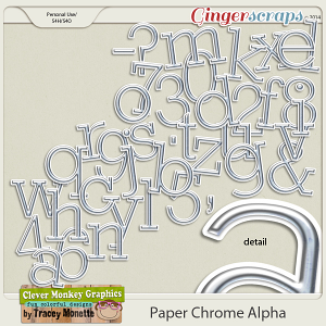 Paper Chrome Alpha by Clever Monkey Graphics