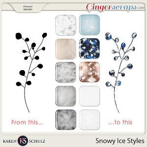 Snowy Ice Styles by Karen Schulz