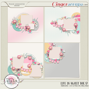 Life is Sweet 17 - Templates - By Neia Scraps