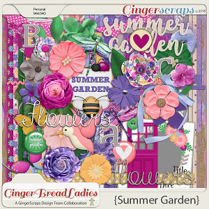 GingerBread Ladies Collab: Summer Garden