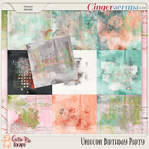 Unicorn Birthday Party Panited Papers